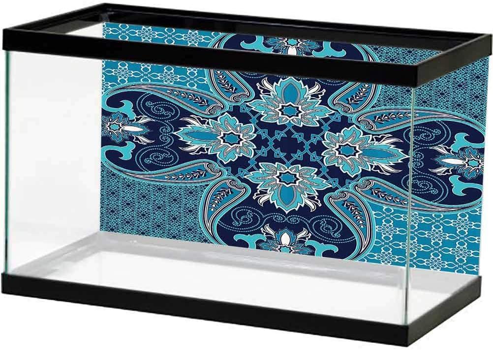Navy Attention brand Blue Decor Aquarium Fish Floral Purchase Background Tank Poster Pais