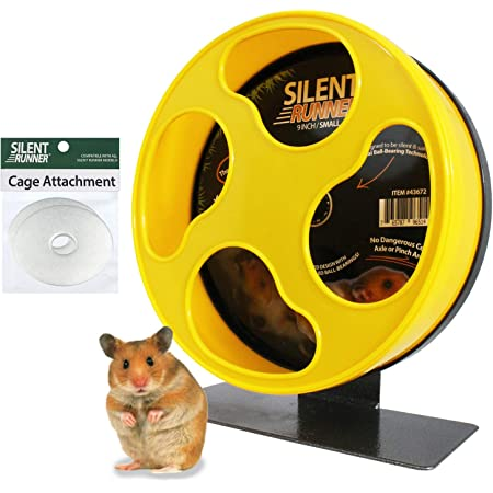 """Silent Runner 9""""   Wheel + Cage Attachment   Hamsters, Gerbils, Mice"""