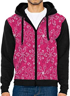 3D Printed Hoodie Sweatshirts,Dotted Hot Pink Background,Hoodie Casual Pocket Sweatshirt