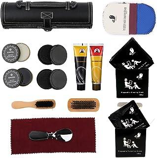 kit d'entretien de la chaussure, kit d'entretien de cuir portable. Y compris le cirage, le cire à chaussures, l'éponge de ...