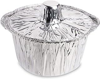 Pack de 12 mini sartenes desechables de aluminio con tapa ~ pequeñas macetas de aluminio con tapas de aluminio