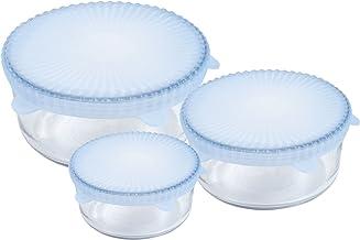 غطاء طعام يونيفرسال من السيليكون القابل لإعادة الاستخدام، مجموعة من 3 قطع من شيف بادي