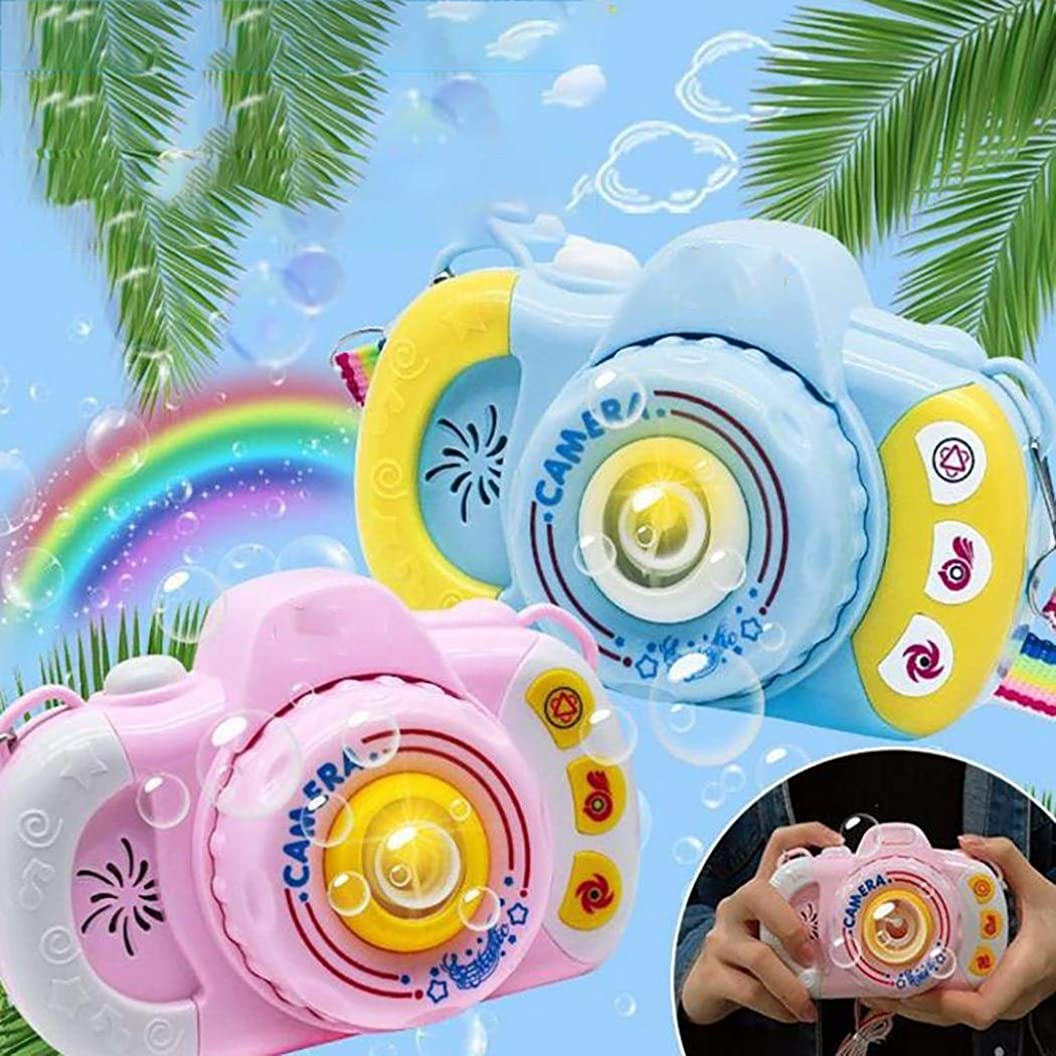 Caiuet Bubble Camera Machine, Automatic Bubble Blowing with Light Music Bubbles Blowing Toy for Boys and Girls pjrilknydri86