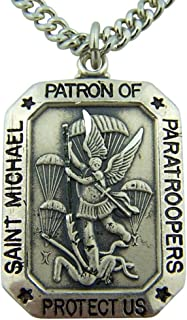 Sterling Silver St. Michael Patron Saint Paratroopers Medal 1 1/8