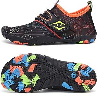 أحذية مائية للأولاد والبنات من SAGUARO سريعة الجفاف ومضادة للانزلاق أحذية رياضية مائية للرياضات في الهواء الطلق أحذية رياض...