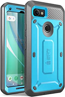 SupCase Unicorn Beetle PRO Series Case Designed for Google Pixel 2 XL,Full-Body Rugged Holster Case with Built-in Screen Protector for Google Pixel 2 XL 2017 Release (Blue)