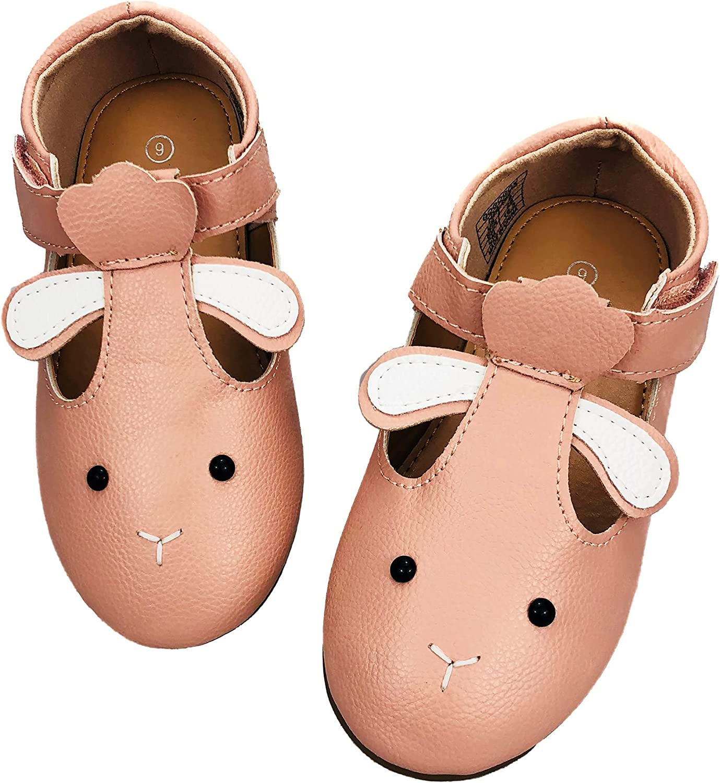 GOGOGOX Girl's Toddler Mary Jane T Strap Flat Ballerina Dress Shoes