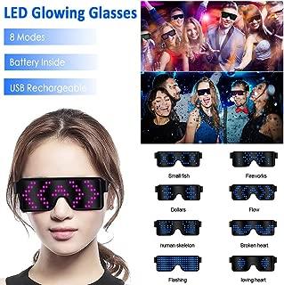 Bar Party Geschenke Atmosph/äre Requisiten Goodtimera LED Leuchtbrille Party EL Leuchtbrille Leuchten Cool Brille LED Drahtbrille Leucht Sonnenbrille