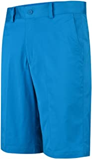 Lesmart Men's Golf Shorts Relaxed Fit Quick Dry Flat Front Cool Summer Pants Size 34 Blue Jewel