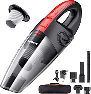 Audew Handheld Vacuums Cordless, Portable Handheld Vacuum Cleaner with Powerful Suction, 120W Rechargeable Car Vacuum Clea...