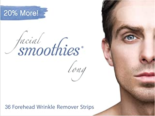 Facial Smoothies LONG Forehead Anti Wrinkle Strips, 36 Extra Long Wrinkle Remover Patches