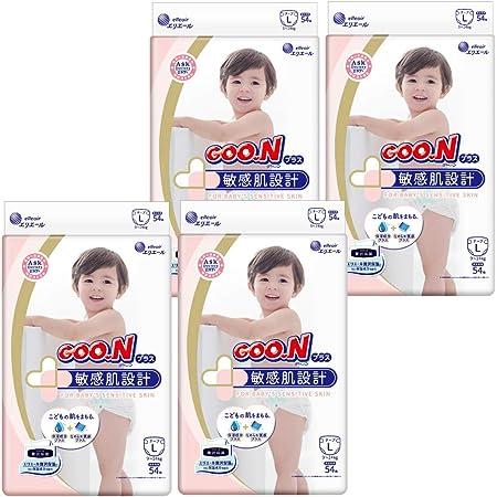 【テープ Lサイズ】グーンプラス 敏感肌設計 (9~14kg) 216枚(54枚×4) [ケース販売] 【Amazon.co.jp限定】
