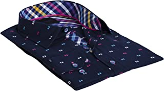 Ormea Navy Men's Designer Dress Shirt