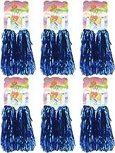 Creatiee 1 Dozen Premium Cheerleading Pom Poms, 12Pcs Hand Flowers Cheerleader Pompoms for Sports Cheers Ball Dance Fancy Dress Night Party