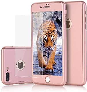 iPhone 7 Plus case, VPR 2 in 1 Ultra Thin Full Body Protection Hard Premium Luxury Cover [Slim Fit] Shock Absorption Skid-proof PC case for Apple iPhone7 Plus (5.7inch) (RoseGold)