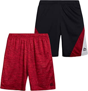RBX Boys' Active Shorts – Athletic Performance Basketball Shorts (2 Pack)
