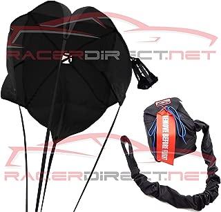 Racerdirect Parachute JR Dragster Spring Loaded Black Panels Drag Safety Chute