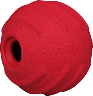 Jolly Pets Tuff Tosser Bouncing Ball Tog Toy/Treat Holder, 4 Inches, Red