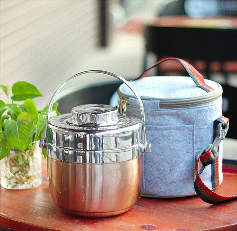 calidad auténtica GNOONEQ Fiambrera caja de de de almuerzo duradera elegante barril de aislamiento portátil de acero inoxidable al vacío  Venta en línea precio bajo descuento