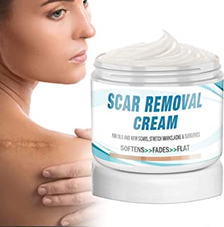 Scar Removal Cream, Advanced Formula Scar Treatment Reduces the Appearance of Old & New Scars Caused by Surgery, Injury, B...