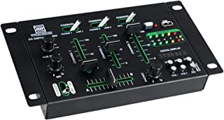 Pronomic DX-30BTU USB MKII - Mesa de mezclas para DJ (Bluetooth, 3 canales, función Cue, USB, MP3 y reproductor Bluetooth,...