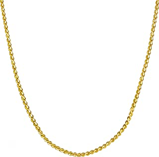 LIFETIME JEWELRY 1.4mm Serpentine Chain Necklace for Women & Men 24k Gold Plated
