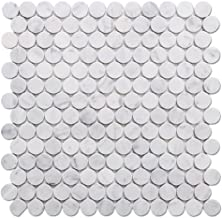 carrara marble penny rounds
