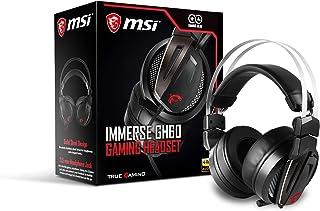 MSI Immerse GH60 - Auriculares con Micrófono, Certificación Hi-Res, Negro