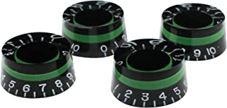Guyker 4Pcs Guitar Control Knobs for 6mm Dia. Shaft Pots - Dome Volume Tone Potentiometer Knob Replacement for Precision Electric Guitar or Bass (Green)