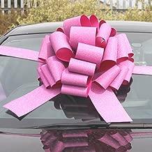 Gran cumplea/ños /& Navidad regalos/ + 6/metros de cinta para coches Mega gigante COCHE lazo bicicletas /hologr/áfica rosa 16/pulgadas