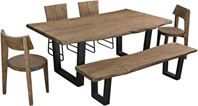 Treasure Trove Accents Sequoia Dining Bench Light Brown Acacia