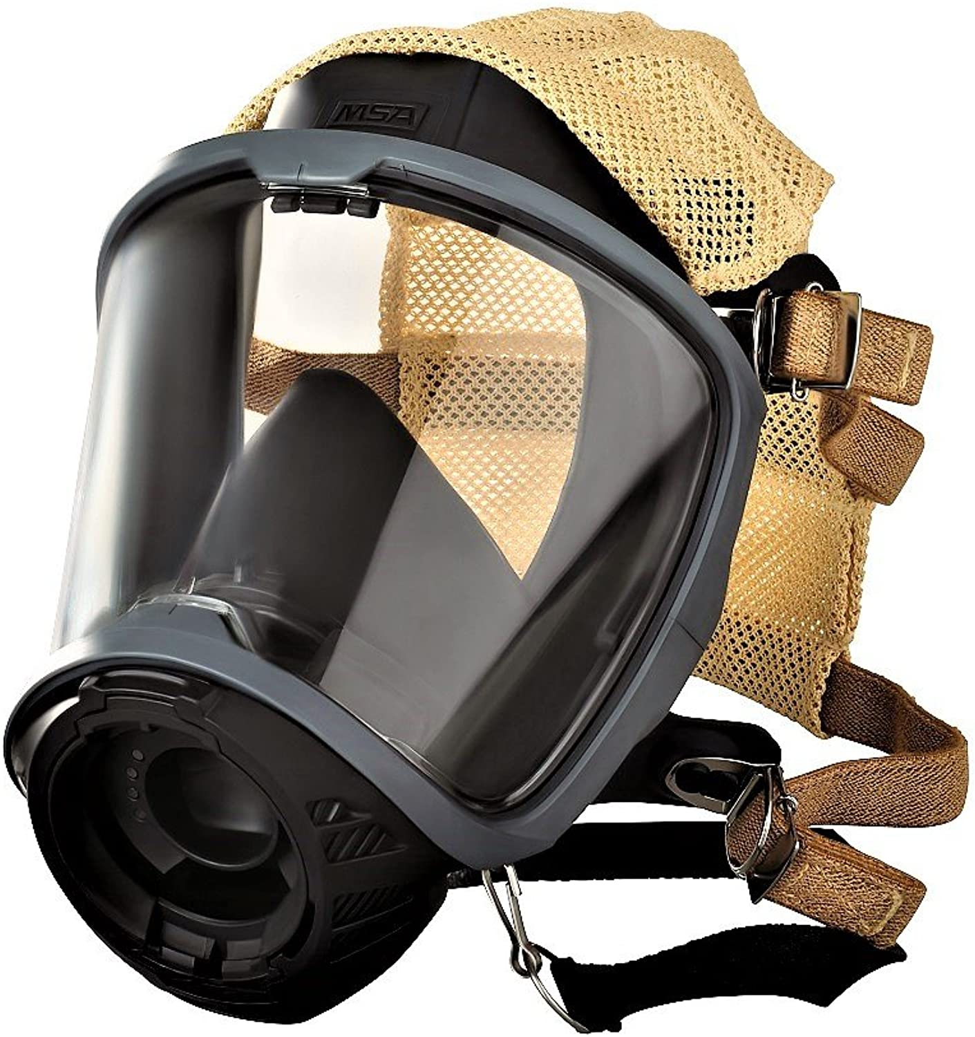 MSA Safety 10156459 Facepiece, G1, Fire Service, Nose Cup with 4 Point Adjustable Head Harness, Medium