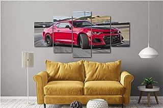 5 Piece Luxury Canvas Posters of Sports Cars Supercar Exotic Luxury Modern Wall Art Decor (5 Piece Medium, 2019 Chevy Camaro ZL1)