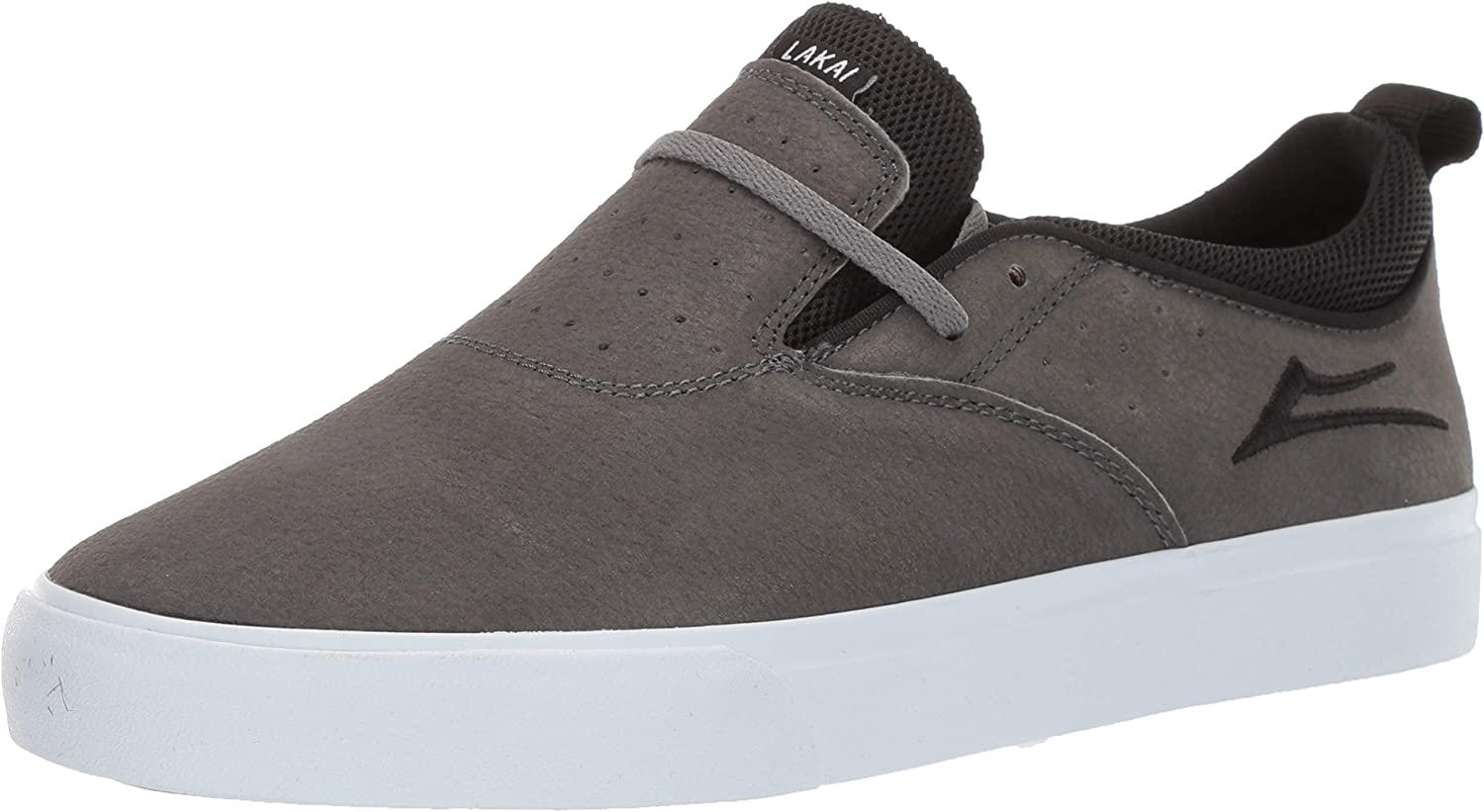 Lakai Unisex's Footwear Summer 2019 RILEY2 Charcoal SYN. Nubuck Size 11 Tennis shoes, Synthetic M US
