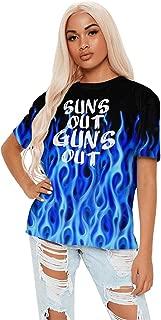 Graphic Womens Tshirt Cotton Fitness Beast Model Stringer Tank Tops Short Sleeves T Shirt Unique Art T-Shirts for Women