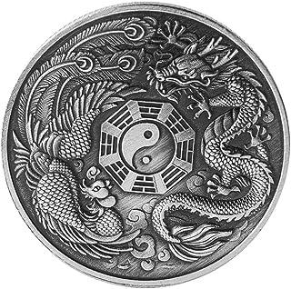 ULTNICE Souvenir Coin 1 Pcs Chinese Dragon Phoenix Lucky Coin Elizabeth II Commemorative Coin Family Collection Souvenir G...