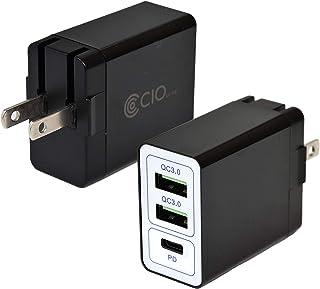 CIO USB PD 充電器 コンセント Type-C 急速充電器 Android iPhone スマホ QC3.0 ACアダプター 携帯 アンドロイド タイプC 3ポート iPhone12 Pro Max mini Xperia Galaxy...