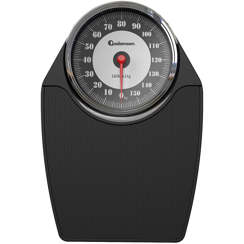 Adamson A24 - Báscula de baño analógica - Hasta 160 kg - Números grandes y base antideslizante - Balanzas para baño de alta precisión - 20 años de garantía - Para casa, dormitorio, baño - NUEVA 2021
