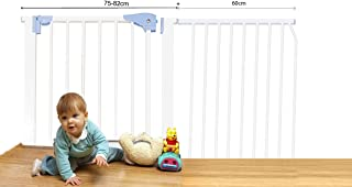 Kiddale Extra Wide, Auto Close, Baby Safety Gate (Barrier, Fence) for Baby, Kids, Dogs, Pets, Infants(Suitable for Passage Width Between 135-145 cm Height: 78cm-White