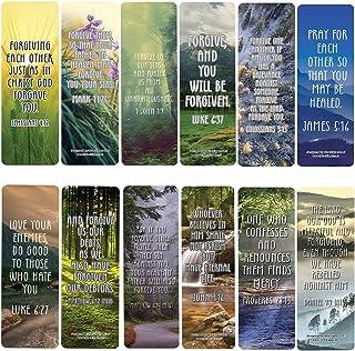 God's Forgiveness Bible Verse Bookmarks (30-Pack) - Stocking Stuffers for Boys Girls - Children Ministry Bible Study Churc...