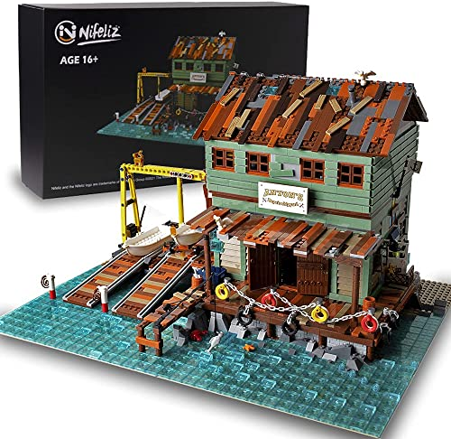 Nifeliz Fishing Village Shipyard MOC Building Blocks kit - Construction Set to Build, Model Set and Assembly Toy for Teens and Adult,New 2021 (3281Pcs)