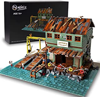 Nifeliz Fishing Village Shipyard MOC Building Blocks Kit - Juego de construcción para construir, modelo y juguete de montaje para adolescentes y adultos, nuevo 2021 (3281 piezas)