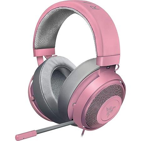 Razer Kraken Quartz Pink ゲーミングヘッドセット 3.5mm 冷却パッド PS4 PS5 PC Switch スマホ【日本正規代理店保証品】 RZ04-02830300-R3M1