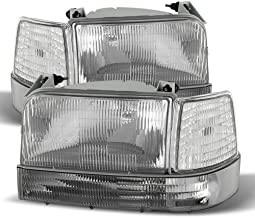 ACANII - For 1992-1996 Ford Bronco F150 F250 Replacement Headlights Corner Light Bumper Lamps Driver + Passenger Side