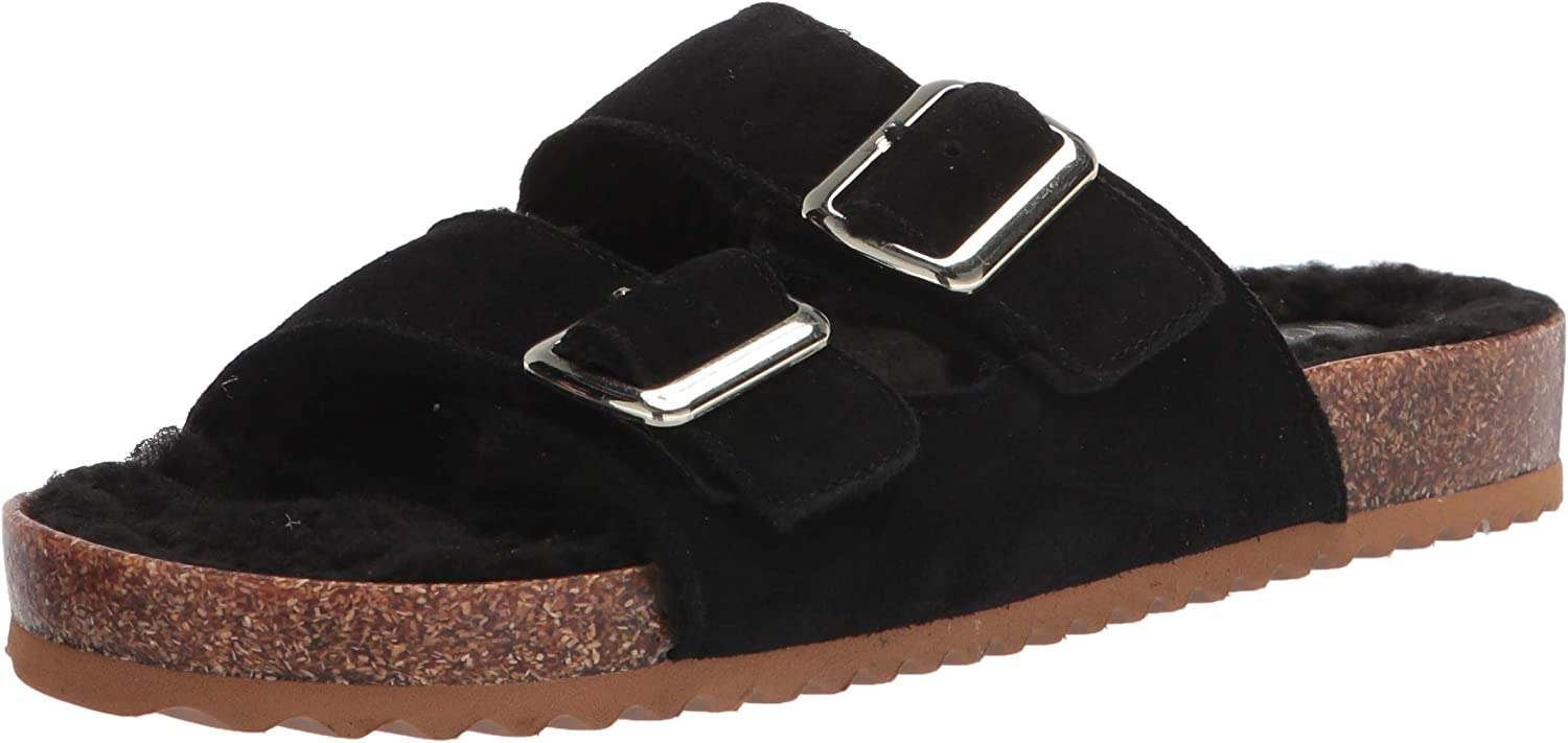 Vince Camuto Women's Popular product Mannissa Two Slide Sandal Oakland Mall Buckle