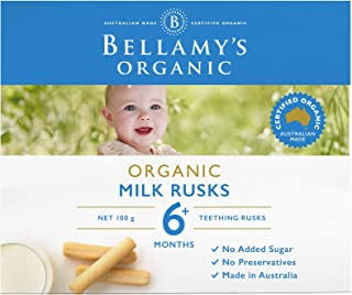 Bellamy's Organic Toothiepegs Milk Rusks, 100g