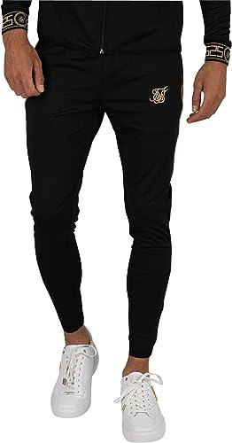 Sik Silk Homme Joggers de Piste Scope voituretel, Noir