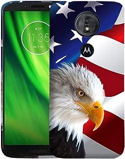 Inkmodo - Designer Hard Case for Moto G6 Play - Bald Eagle USA American Flag Printed Slim Profile Cute Plastic Snap on Back Cover