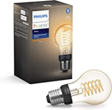 Philips Hue White Filament Single Smart LED Bulb E27 Edison Screw with Bluetooth