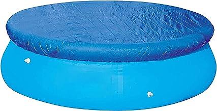 Yezytech 6FT Rund Pool Abdeckplane, Schwimmbad Poolabdeckung,Aufblasbare Easy Set Swimming Pool Cover PE Schutzplane Wasserdicht Staubdicht Winddicht Solarabdeckung